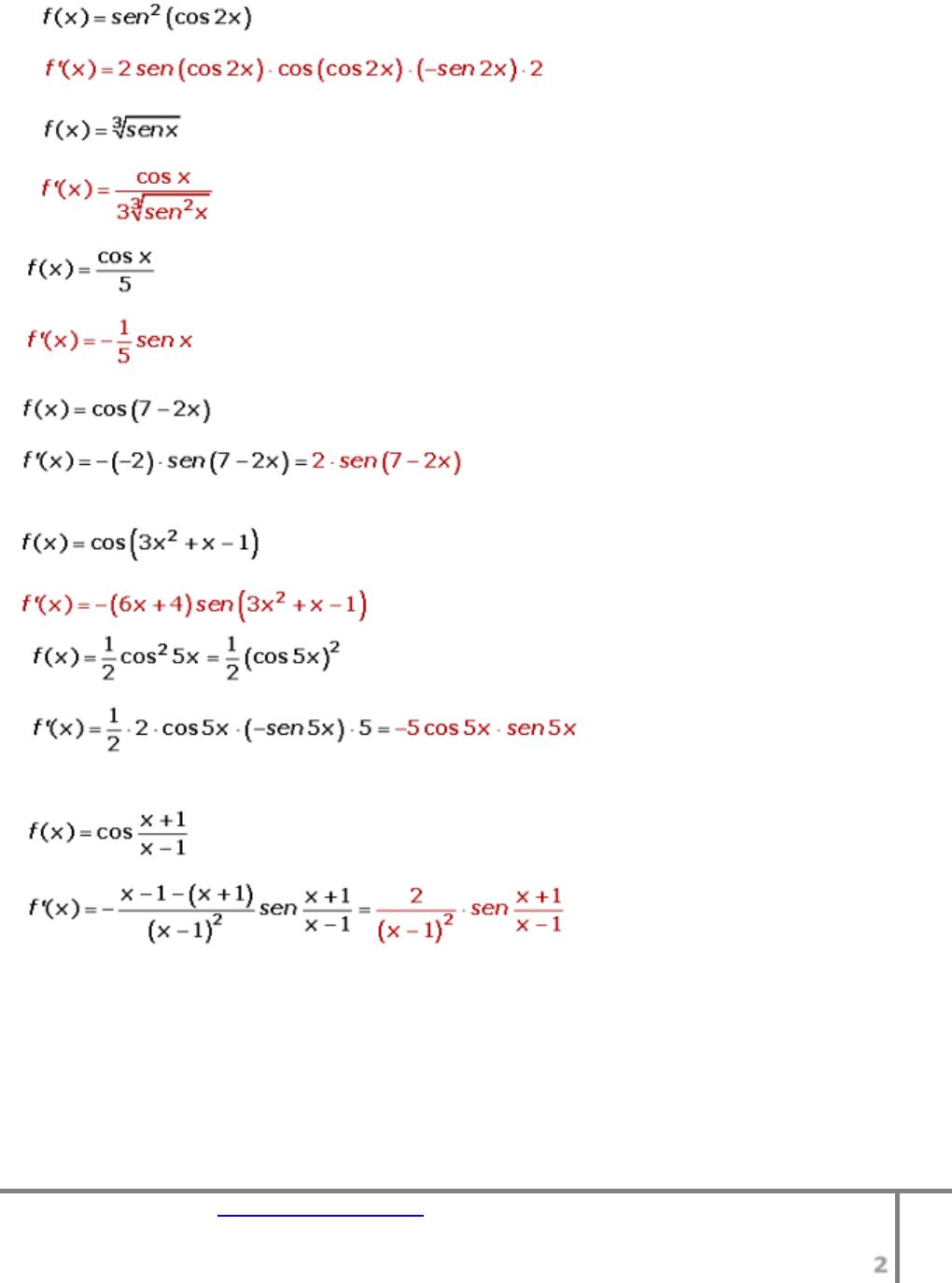 15 Ejercicios Resueltos Trigonometria Derivadas Trigonometricas ...